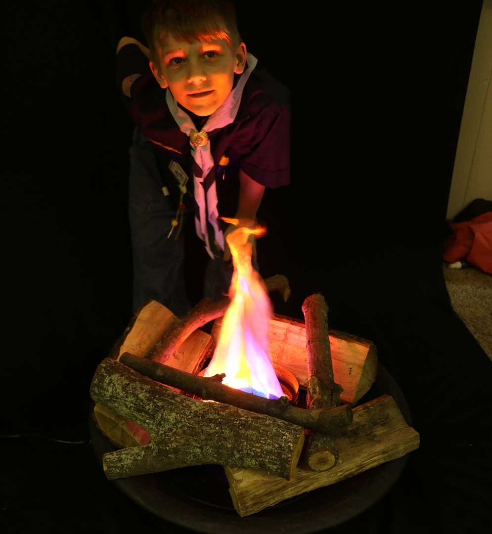 Scouting Fake Fire - Realistic Fake Fire, Indoor Campfire Firepit