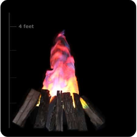 Home Realistic Fake Fire Indoor Campfire Firepit